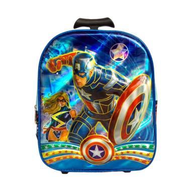 Avenger 0930010611Tas Trolly Captain Amerika Rain Coat Sekolah Anak