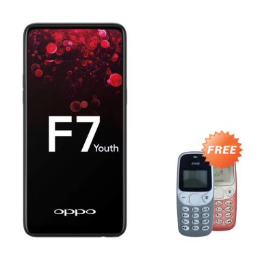 OPPO F7 Youth Smartphone - Black [6 ... ree Handphone Prince Pc-5