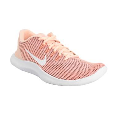 NIKE Women Running Flex 2018 Sepatu Lari Wanita - Cream [AA7408-800]