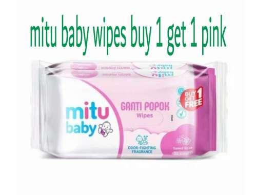 harga Mitu Baby Wipes Ganti Popok Tisu Basah - Purple [50 Sheets] 1 karton pink Blibli.com