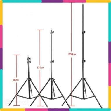 harga Dijual Portable Light Stand Tripod 3 Section 200cm - Hitam Berkualitas Blibli.com
