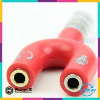 harga Jual Spliter Audio Shape U 3.5mm ke Headphone  Mic Berkualitas Blibli.com