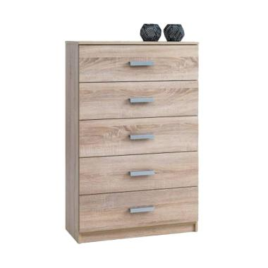 JYSK Wide Kabdrup Chest 5 Drawers Lemari Laci [71 x 35 x 108 cm]
