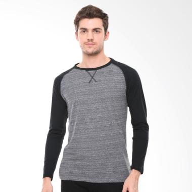 Tirajeans Long Sleeve T-Shirt Pria [TTL205B60002S18] - Black