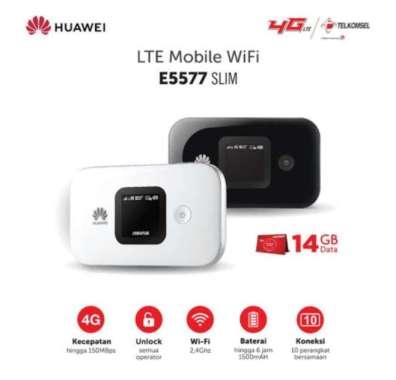 harga Modem Mifi 4G All Operator Huawei E5577 Slim Telkomsel 14GB MULTY COLOUR Blibli.com