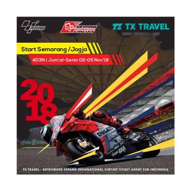TX Travel Paket Tour Sepang MotoGP  ... a [4D3N/ Hotel Bintang 3]