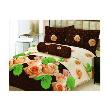 Lady Rose Lovisa Set Sprei - Brown [180 x 200 cm]
