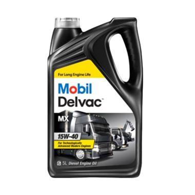 Mobil Delvac MX 15W-40 [5 Liter] - Pelumas Oli Mesin Mobil DIESEL / Mobil Box / Pickup / Truk / GENSET DIESEL / MESIN INDUSTRI