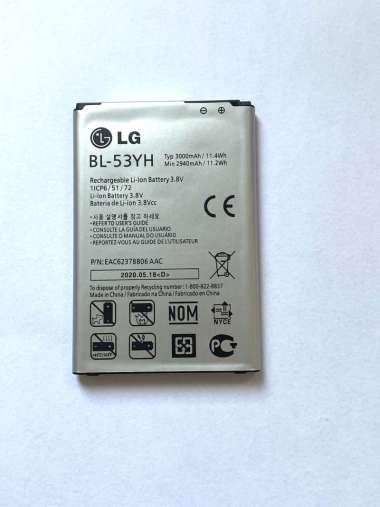 harga LG D851 [ 3000 MAH ] - BL-53YH - 100% ORIGINAL Baterai Batrai Batre Batery Batere Battery Batrai Batrey Hp Handphone Hape henfone BL53YH Blibli.com