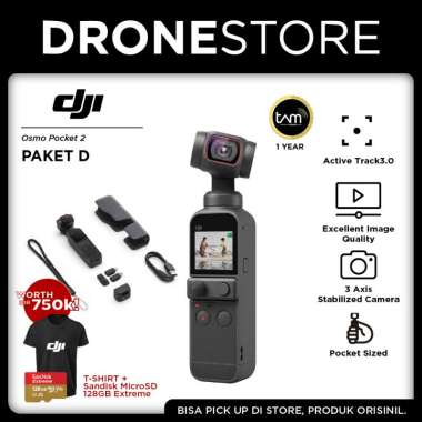 harga DJI Osmo Pocket 2 Basic Gimbal Stabilizer Camera Original Garansi Resmi 1 Tahun Paket D Blibli.com