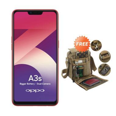 OPPO A3S Smartphone - Merah [32 GB/ 3 GB] + Free Tas Slempang