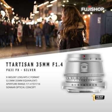 FUJISHOPid TTArtisan 35mm f1.4 for Fujifilm TTArtisan 35mm f/1.4 Resmi Silver