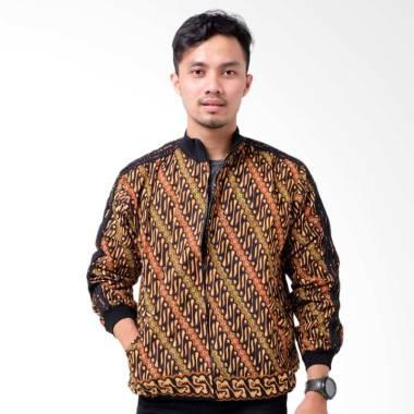 Batik Distro Parang Kecil Batik Jaket Pria - Coklat [T1248]