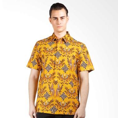 Asana Kanata Short Sleeves Kemeja Batik Pria - Yellow