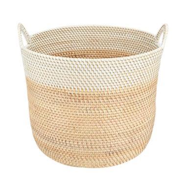 harga Kerajinan Lokal Rotan Set Ember Kuping - Natural White Wash [2 pcs] Blibli.com