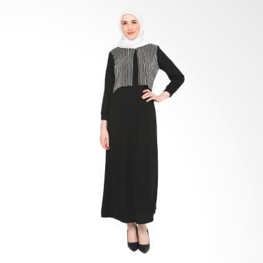 Heart and Feel Muslim 3082.D Gamis Wanita - Hitam
