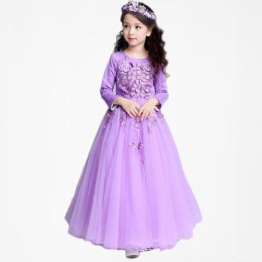 Frozen Princess Rapunzel Dress Gaun ...