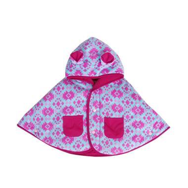 Cuddle Me Motif Aztec Jaket Baby Cape - Pink