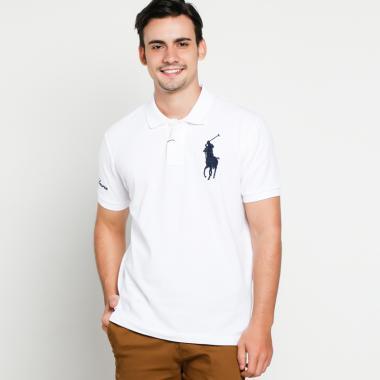 POLO RALPH LAUREN Custom Fit Polo Shirt Pria - white [PX1400045]