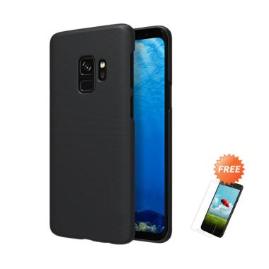 OEM Slim Black Matte Hardcase Casing for Samsung Galaxy S9 G960 5.8 Inch + Free Tempered Glass