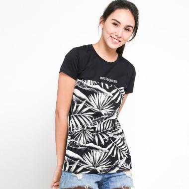 180 Degrees Tropical Halftone T-Shirt Wanita