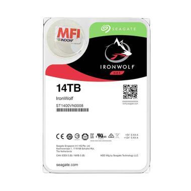 harga Seagate Ironwolf NAS Hard Disk Internal [SATA/ 3.5 Inch/ 14 TB] Blibli.com