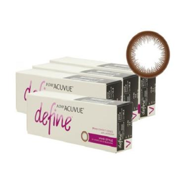 harga Acuvue 1 Day Acuvue Define Vivid Style Softlens [4 Boxes] -0.75 Brown Blibli.com