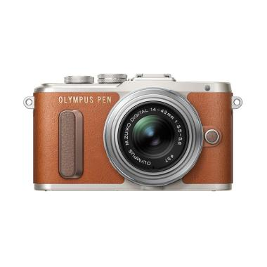 harga Olympus PEN E-PL8 Kit 14-42mm EZ Kamera Mirrorless - Brown Free Screen Guard (terpasang) dan Tas kamera Blibli.com