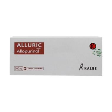 Alluric 300 mg Obat Kesehatan [10 tablet]