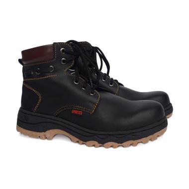 Sepatu Boots Pria Safety Ujung Besi Zipper Tali Caterpilar ... 7bf3c73ceb