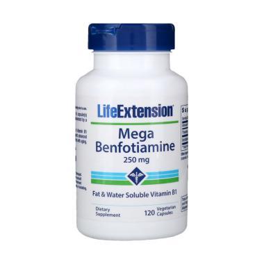 Life Extension Mega Benfotiamine 250 mg Suplemen [Original/120 Veg]
