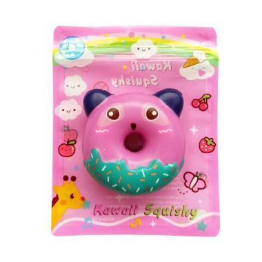 Squishy Sweet Animal Donut Purple Panda Mainan Anak