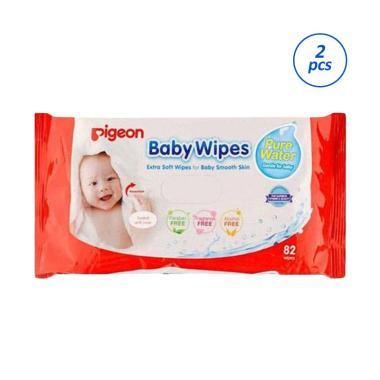 Pigeon Baby Wipes Pure Water Tissue Basah [82 sheet]