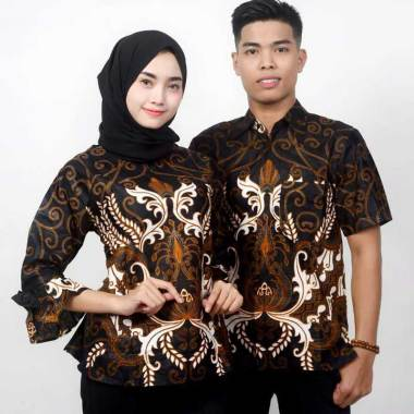 King Projo Baju Batik Couple Hitam
