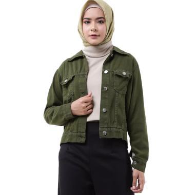 Zahra Signature Denim Jacket Grenda Outer Muslim Wanita