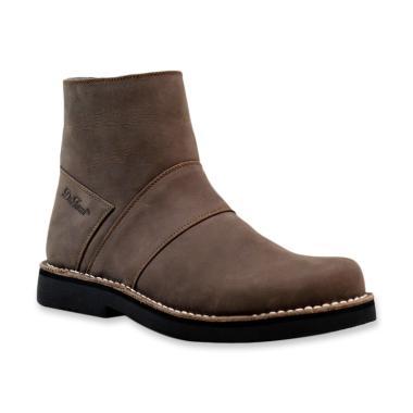 harga Dr.Faris Footwear Casual Resleting Kulit Sepatu Boots Pria [Original/ 3020ch] Blibli.com