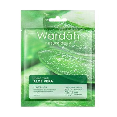 Wardah Nature Daily Sheet Mask Aloe Vera Masker Wajah [20 mL]