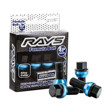 harga Rays Formula Bolt 14 x 1.25 x 60/ 38mm - Black Blue Blibli.com