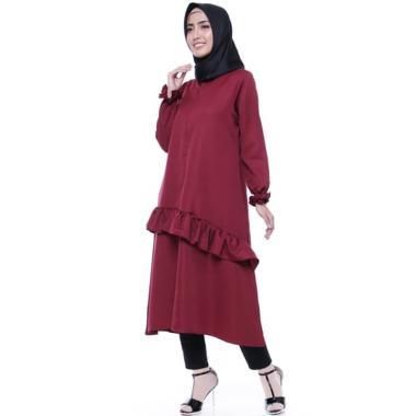 TUNIQ Elizzia Atasan Muslim Wanita - Maroon