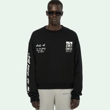 Off White Monalisa Over Crewneck Sweater Pria - Black