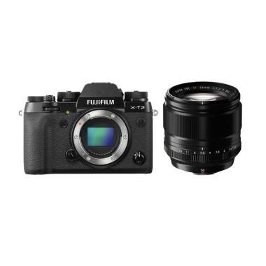 DOSS - Fujifilm XT2 Body Only Kamera Mirrorless + XF 56mm f/1 2 R