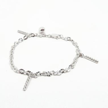 Beauty Culture Bcgt006 Nori Ukir Stripe Perak Silver 925 Lapis Emas Perhiasaan Gelang Original