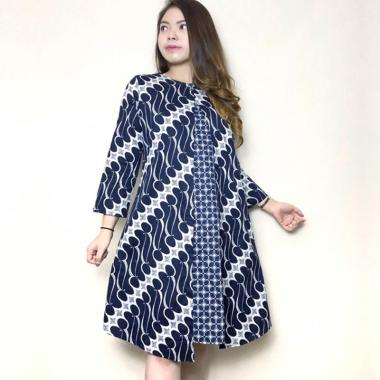 Evercloth Quena Batik Dress Wanita Jumbo
