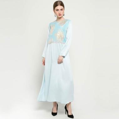 Versail Long Jaguard Dress Wanita Peppermint
