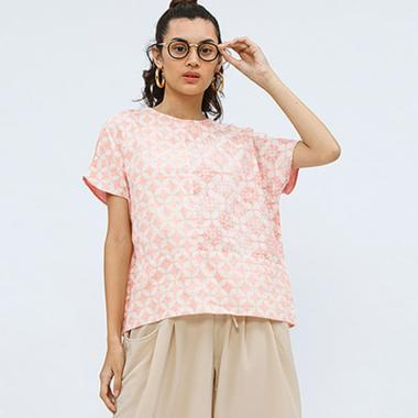 Cottonink Nilam Atasan Batik Wanita - Pink