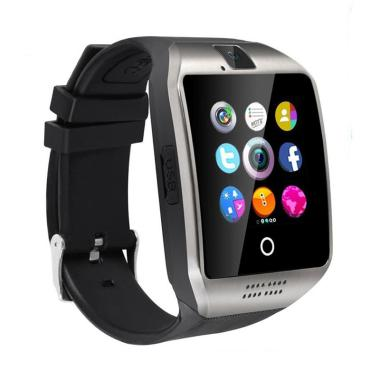 harga Bluelans Sports Sleep Monitor Alarm Bluetooth Q18 Smart Wrist Watch Bracelet with Camera Blibli.com