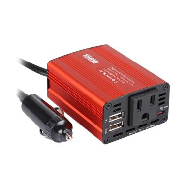 harga Bluelans Car Power Inverter Modified Sine Wave Converter US Plug - Red [150W Dual USB 12V to 110/220V] Blibli.com