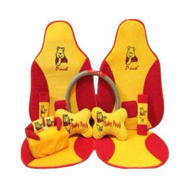 C2N Variasi Mobil Sandaran Motif Baby Pooh 5in1 Set Aksesoris Interior Mobil for Grand Livina