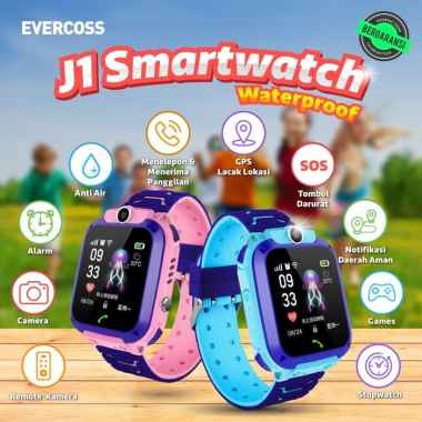 Smartwatch Evercoss J1 Original Bergaransi POSTEL