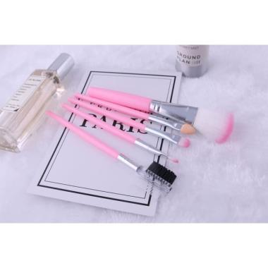 harga LR388 Makeup Brush 5 pcs Paket Set Kuas Make Up Brush Set 5in1 pink Blibli.com